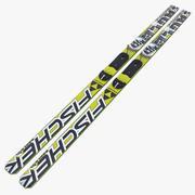 Ski Jumping Skis 3d model