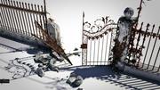 cancello ornamentale rotto 3d model