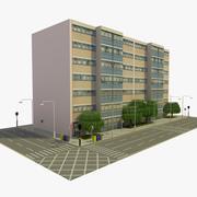 유럽 도시 블록 9 3d model