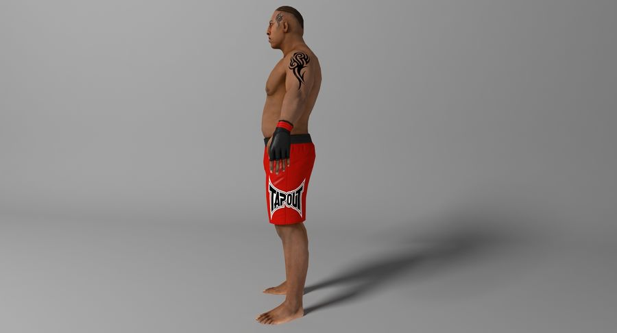 UFC Boxer royalty-free 3d model - Preview no. 5