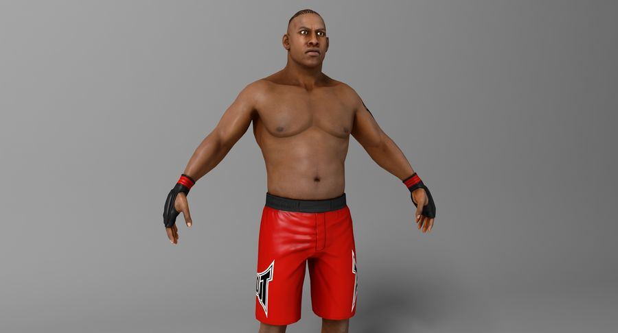 UFC Boxer royalty-free 3d model - Preview no. 3