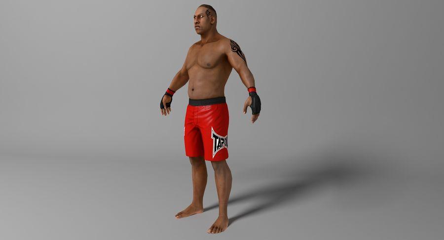UFC Boxer royalty-free 3d model - Preview no. 4