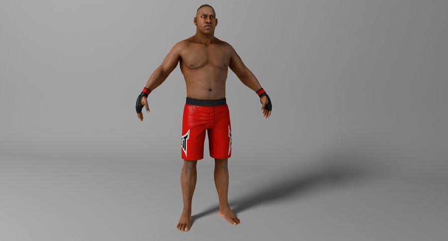 UFC Boxer royalty-free 3d model - Preview no. 8