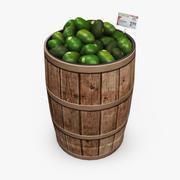 식료품 통-아보카도 3d model
