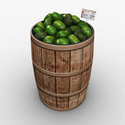 Lebensmittel Fass - Avocados 3d model