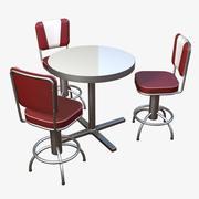 Diner meubels set 3d model