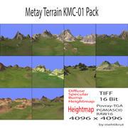 메타 티 지형 KMC-01 팩 3d model