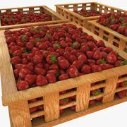 Casse di frutta alla fragola Case Mercato Negozio Negozio Convenienza Generi alimentari Fruttivendolo Dettaglio Prop Fiera Piantagione Giungla Pianta del sud Giardino Serra 3d model