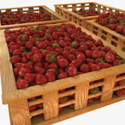 Erdbeerfruchtkisten Fall Market Store Shop Convenience General Grocery Greengrocery Detail Prop Fair Plantage Jungle South Plant Garden Gewächshaus 3d model
