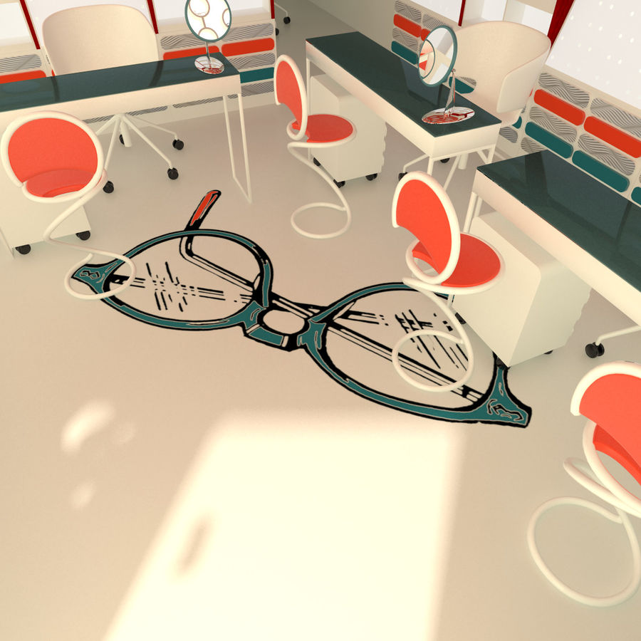 Optician Store royalty-free 3d model - Preview no. 8