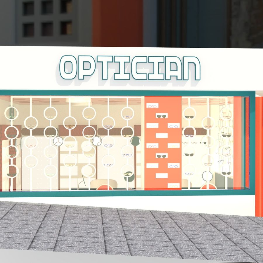 Optician Store royalty-free 3d model - Preview no. 12