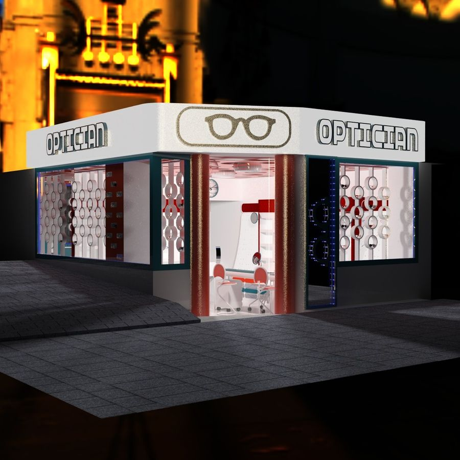 Optician Store royalty-free 3d model - Preview no. 14