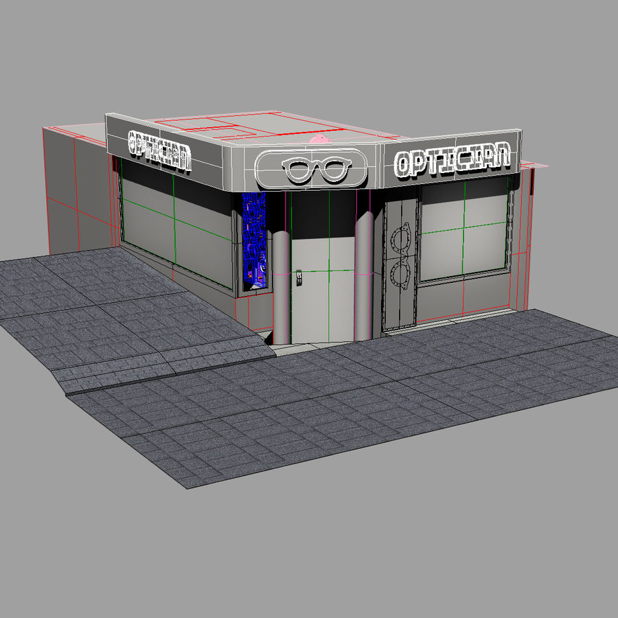 Optician Store royalty-free 3d model - Preview no. 15