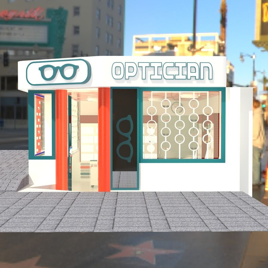 Optician Store royalty-free 3d model - Preview no. 13