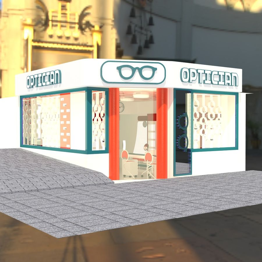 Optician Store royalty-free 3d model - Preview no. 11