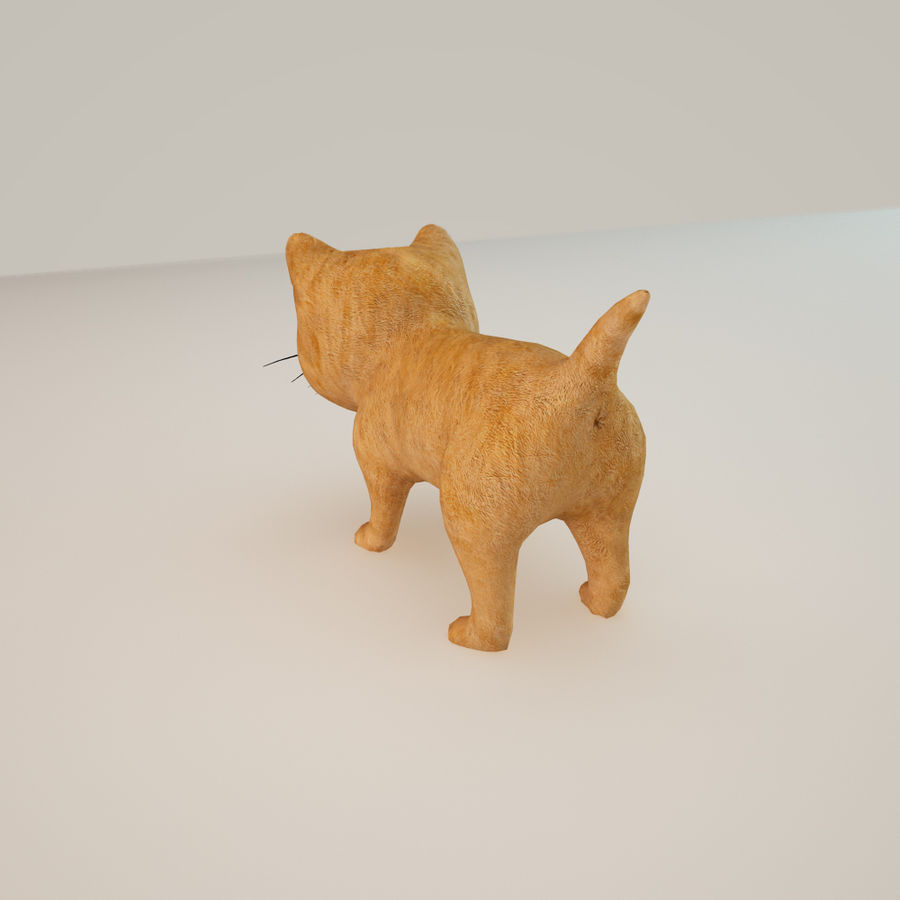 빨간 고양이 고양이 royalty-free 3d model - Preview no. 5
