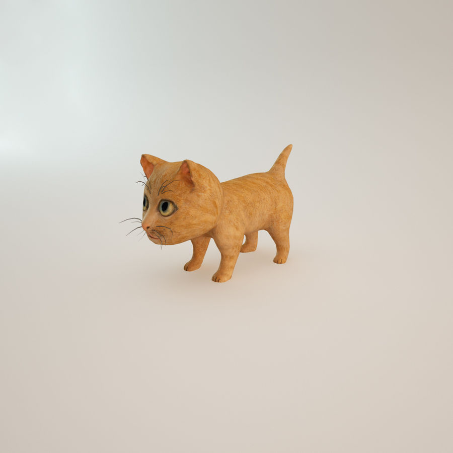 빨간 고양이 고양이 royalty-free 3d model - Preview no. 3