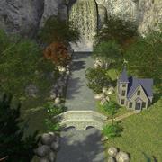瀑布屋 3d model
