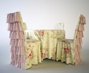 mesa y silla para banquetes modelo 3d