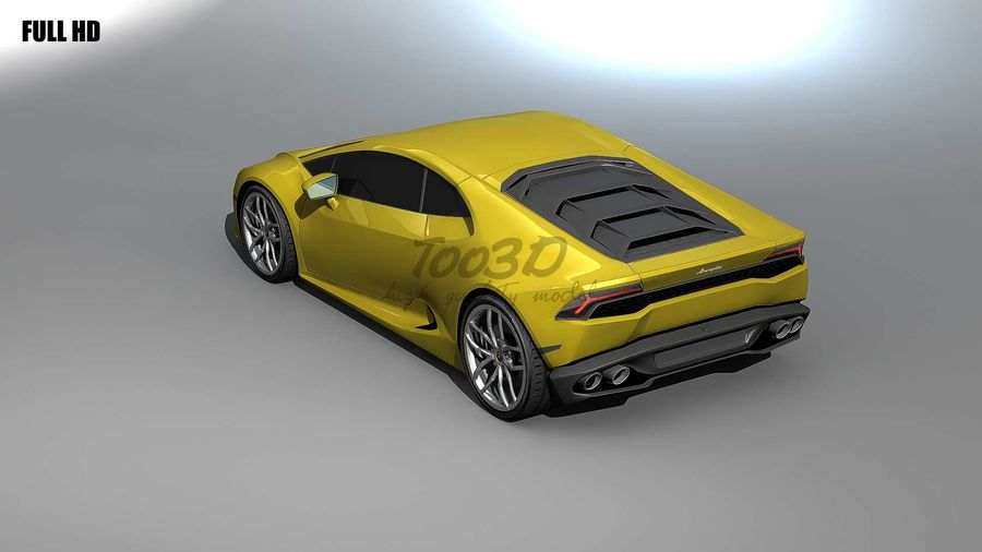 huracan_L2 royalty-free 3d model - Preview no. 4