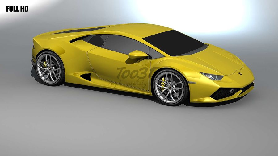 huracan_L2 royalty-free 3d model - Preview no. 1