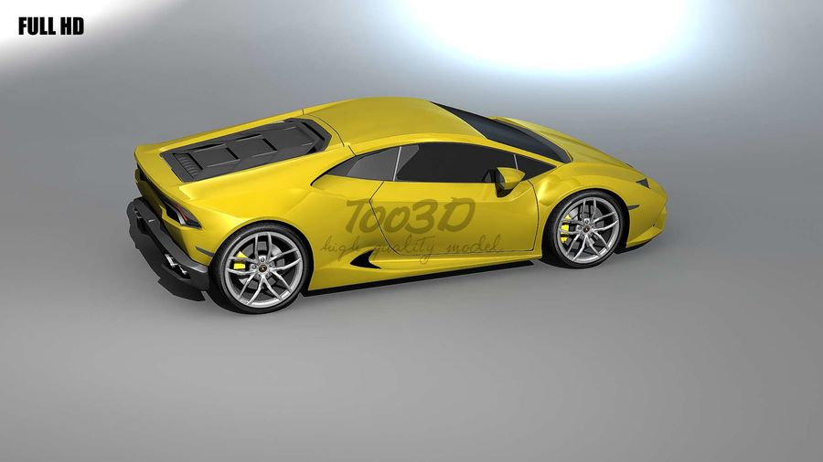 huracan_L2 royalty-free 3d model - Preview no. 2