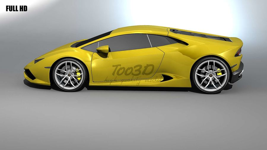 huracan_L2 royalty-free 3d model - Preview no. 5