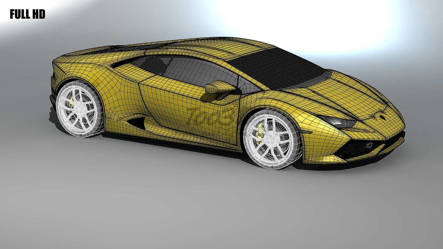 huracan_L2 royalty-free 3d model - Preview no. 9