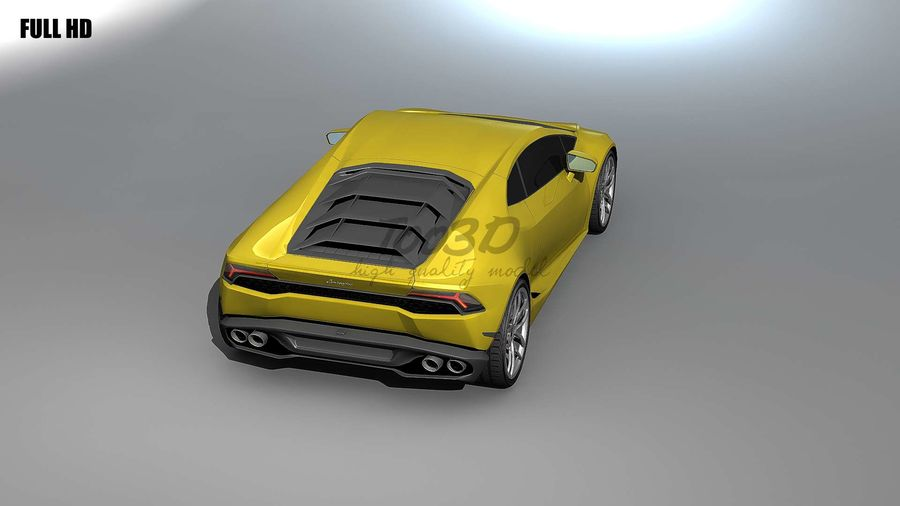 huracan_L2 royalty-free 3d model - Preview no. 3
