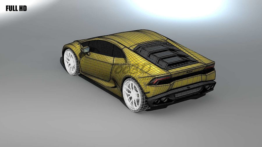 huracan_L2 royalty-free 3d model - Preview no. 12