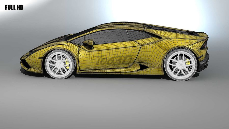 huracan_L2 royalty-free 3d model - Preview no. 13