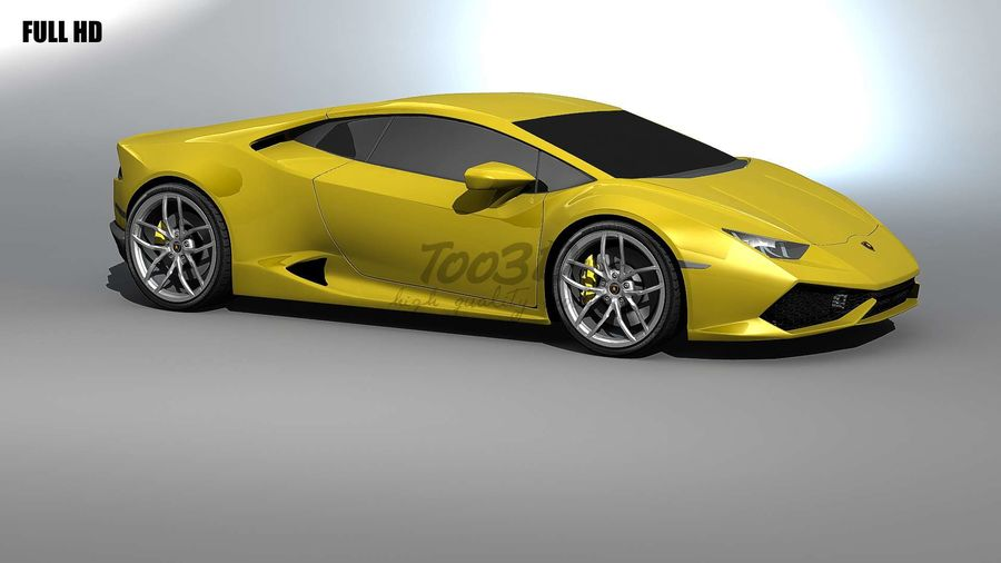 huracan_L2 royalty-free 3d model - Preview no. 8