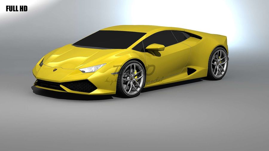 huracan_L2 royalty-free 3d model - Preview no. 6