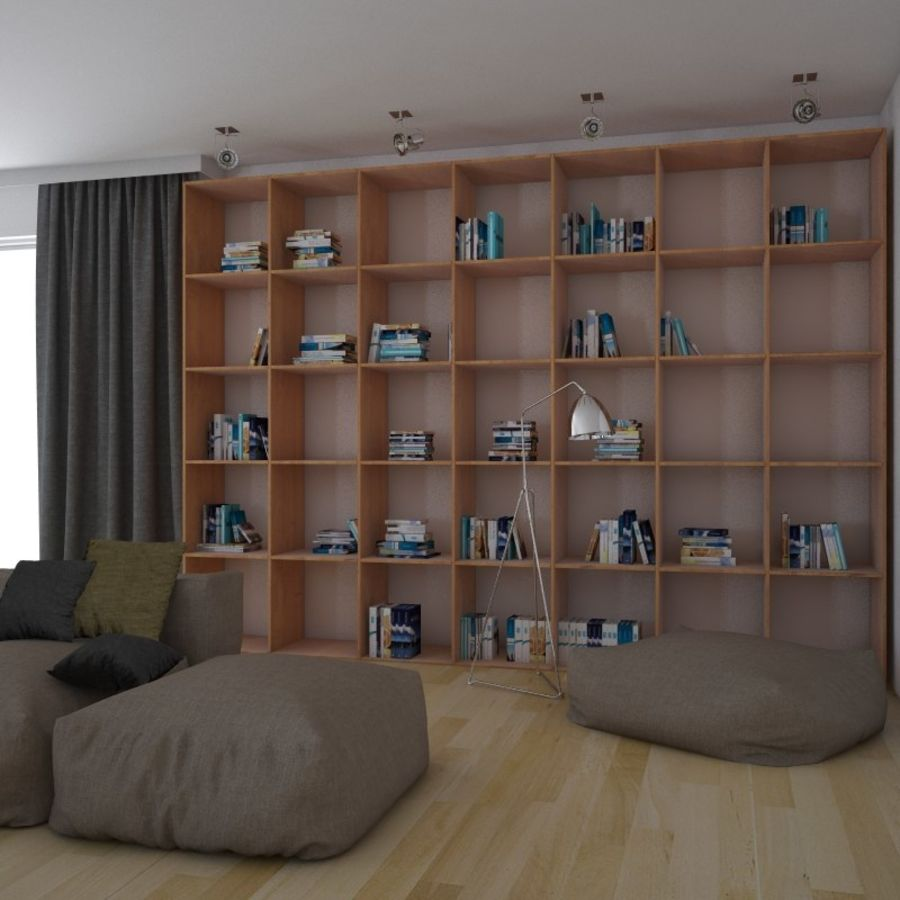 Modern interieur royalty-free 3d model - Preview no. 1