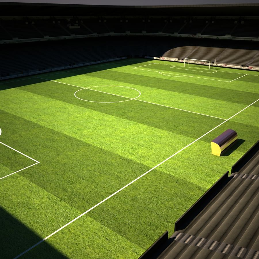 Stadion piłkarski royalty-free 3d model - Preview no. 4