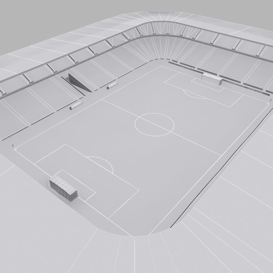 Stadion piłkarski royalty-free 3d model - Preview no. 10