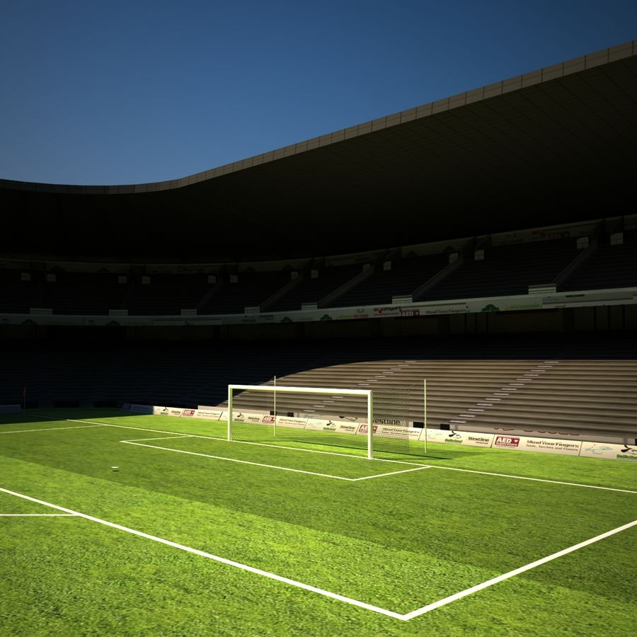 Stadion piłkarski royalty-free 3d model - Preview no. 5