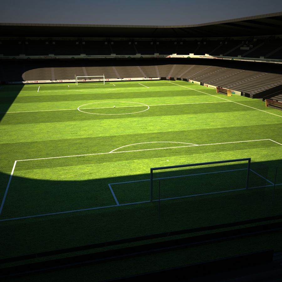 Stadion piłkarski royalty-free 3d model - Preview no. 3