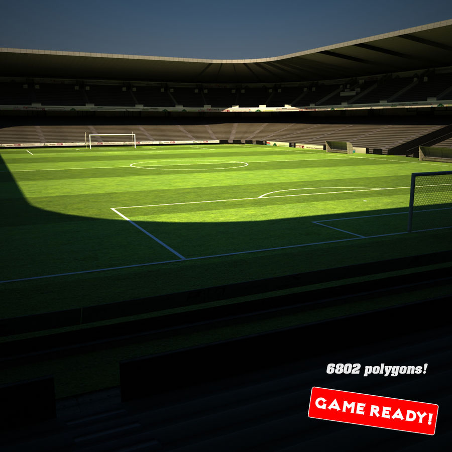 Stadion piłkarski royalty-free 3d model - Preview no. 1