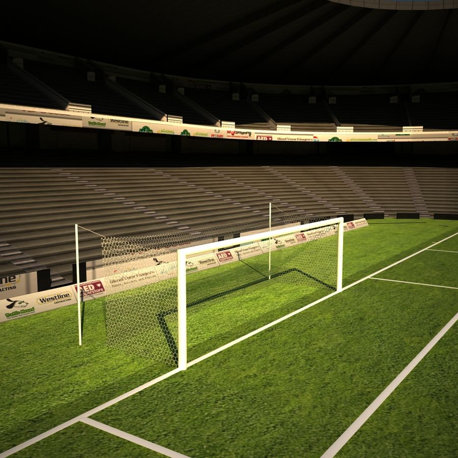 Stadion piłkarski royalty-free 3d model - Preview no. 7