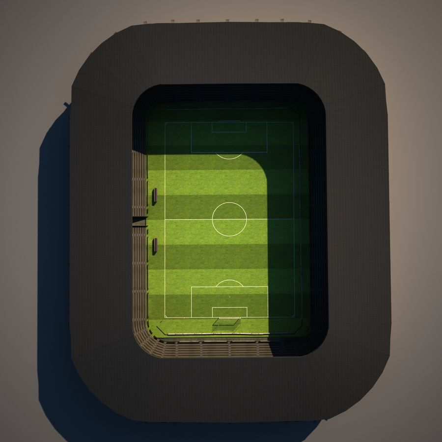 Stadion piłkarski royalty-free 3d model - Preview no. 9
