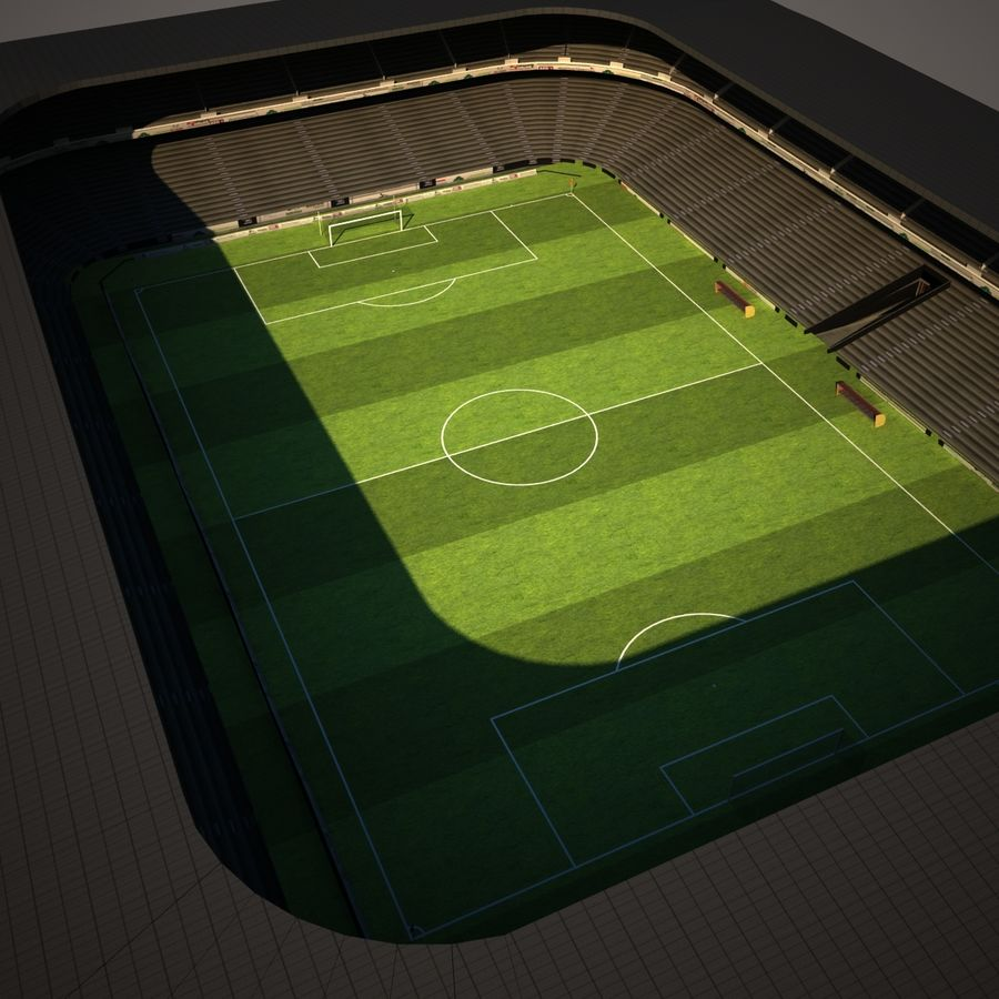 Stadion piłkarski royalty-free 3d model - Preview no. 8
