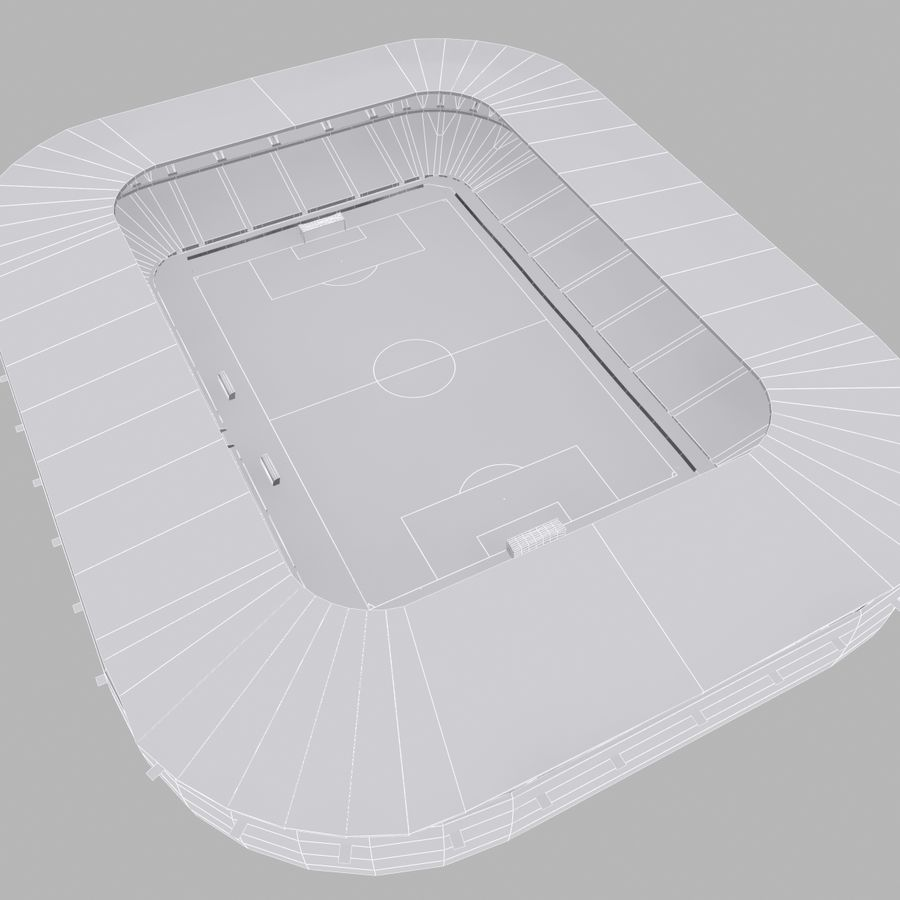 Stadion piłkarski royalty-free 3d model - Preview no. 11