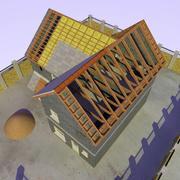 Costruzione e sito della casa 3d model