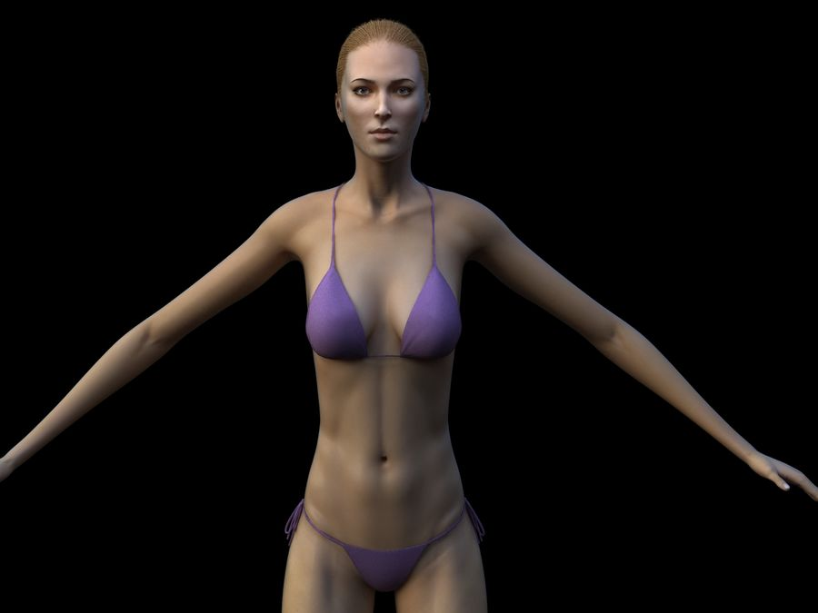 Seksi kadın modeli royalty-free 3d model - Preview no. 1
