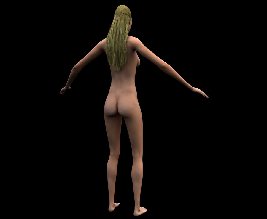 Seksi kadın modeli royalty-free 3d model - Preview no. 14