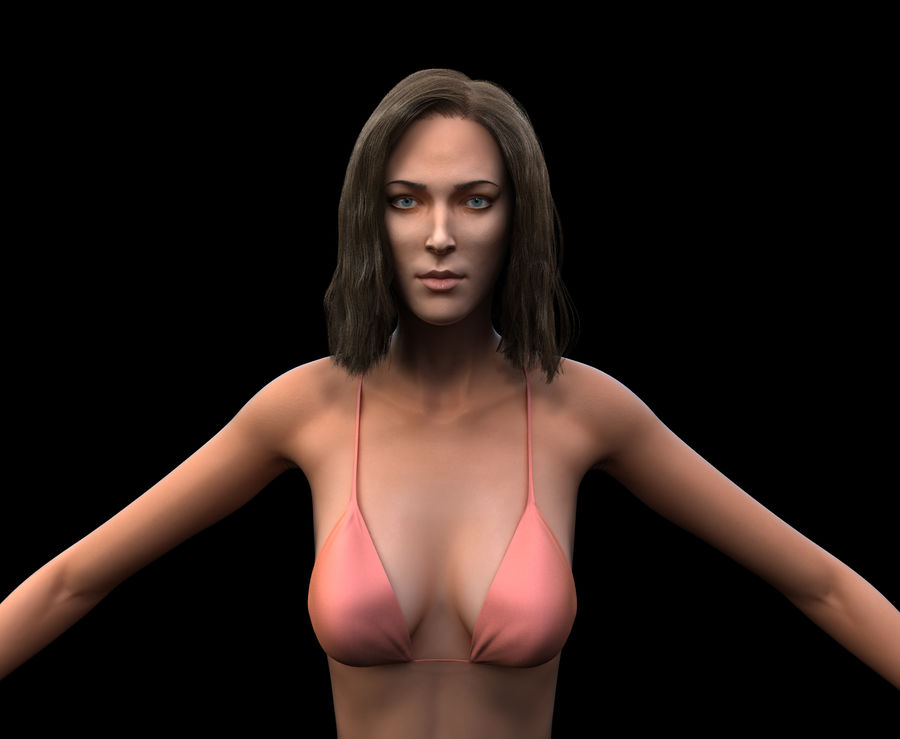 Seksi kadın modeli royalty-free 3d model - Preview no. 8