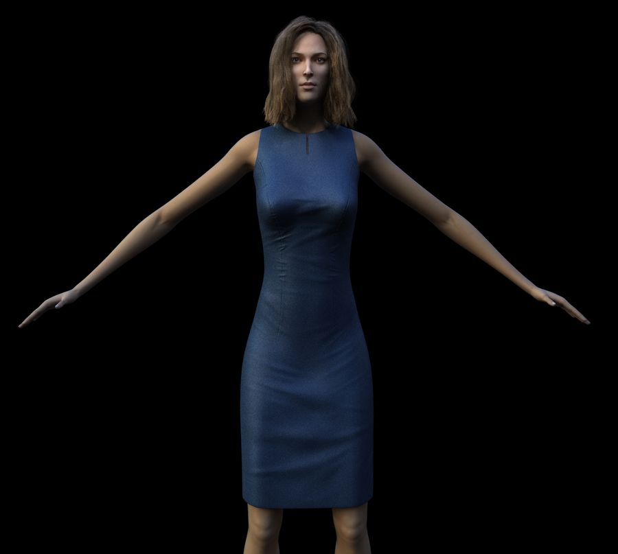 Сексуальная женщина модель royalty-free 3d model - Preview no. 1