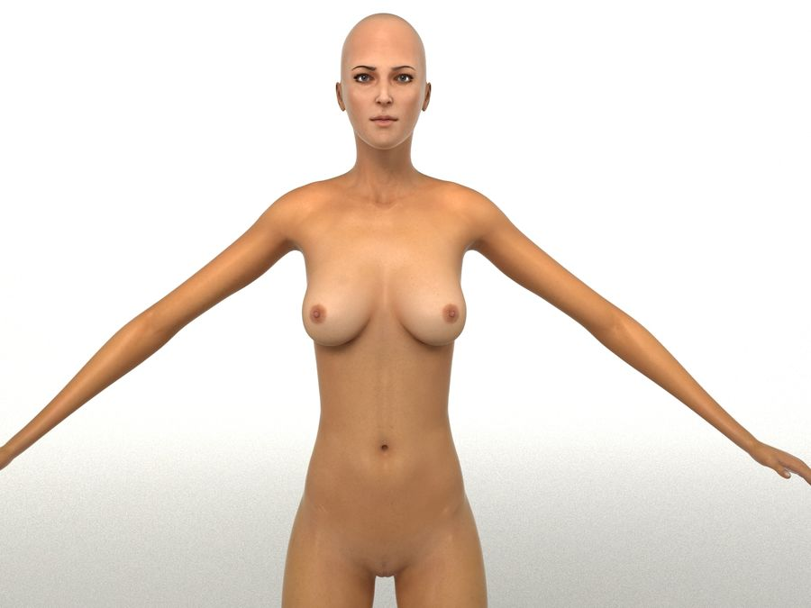Seksi kadın modeli royalty-free 3d model - Preview no. 20