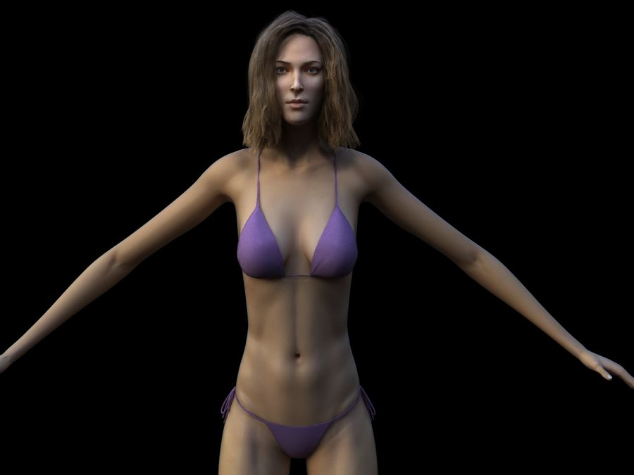 Seksi kadın modeli royalty-free 3d model - Preview no. 5